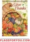 Give Thanks Cornucopia Garden Flag