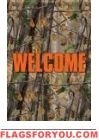 Camouflage Welcome Garden Flag