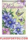 Clematis & Butterflies House Flag