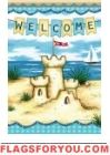 Sandcastle By The Sea Garden Flag