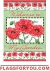 Poppy Garden Welcome House Flag