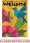 Bluebird Bright Garden Flag