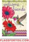 Hummingbird Glory Garden Flag