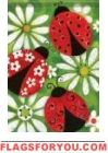 Summer Ladybugs House Flag