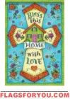 Home With Love Garden Flag