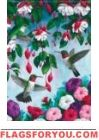 Dancing Hummingbirds Garden Flag