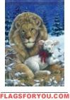 Lion & Lamb Garden Flag