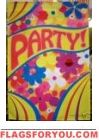 Groovy Hippie Party House Flag - 1 left