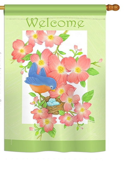 Blue Bird Welcome House Flag