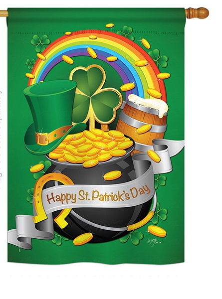Happy St. Patrick\'s Day House Flag