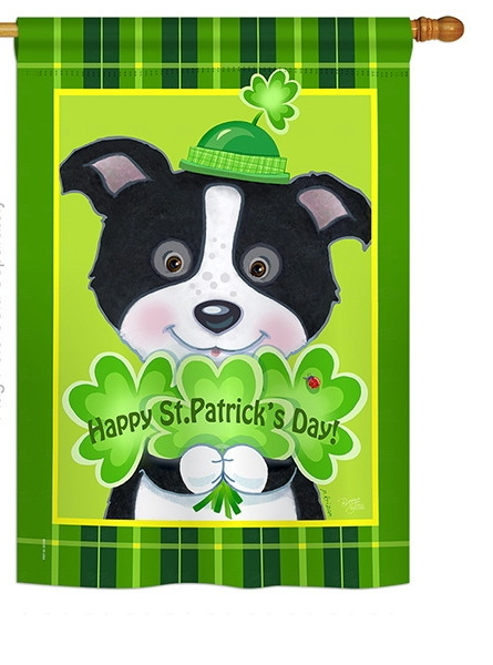 St. Pat\'s Puppy House Flag