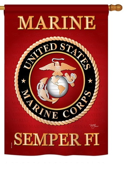 US Marine Corps House Flag