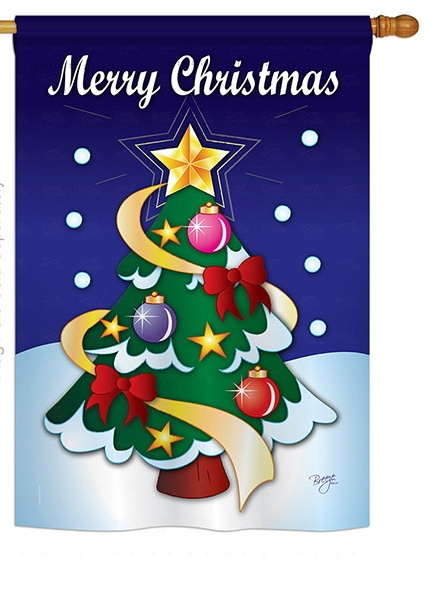 merry christmas house flag - Decorative Christmas Flags