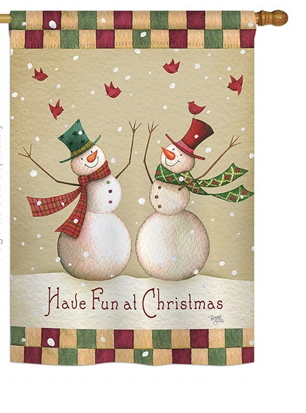 have fun at christmas house flag - Decorative Christmas Flags