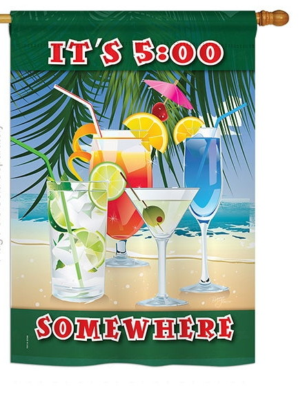 It\'s 5 Somewhere Party House Flag