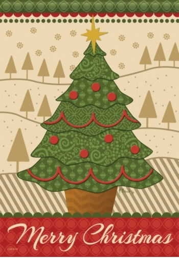 merry christmas tree house flag - Decorative Christmas Flags
