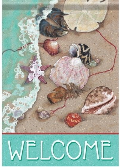 Welcome Shells Dura Soft House Flag