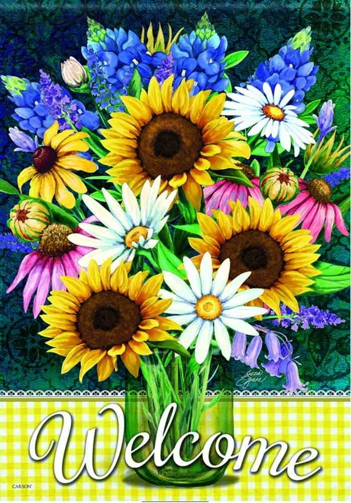 Attirant Sunflower Bouquet Garden Flag
