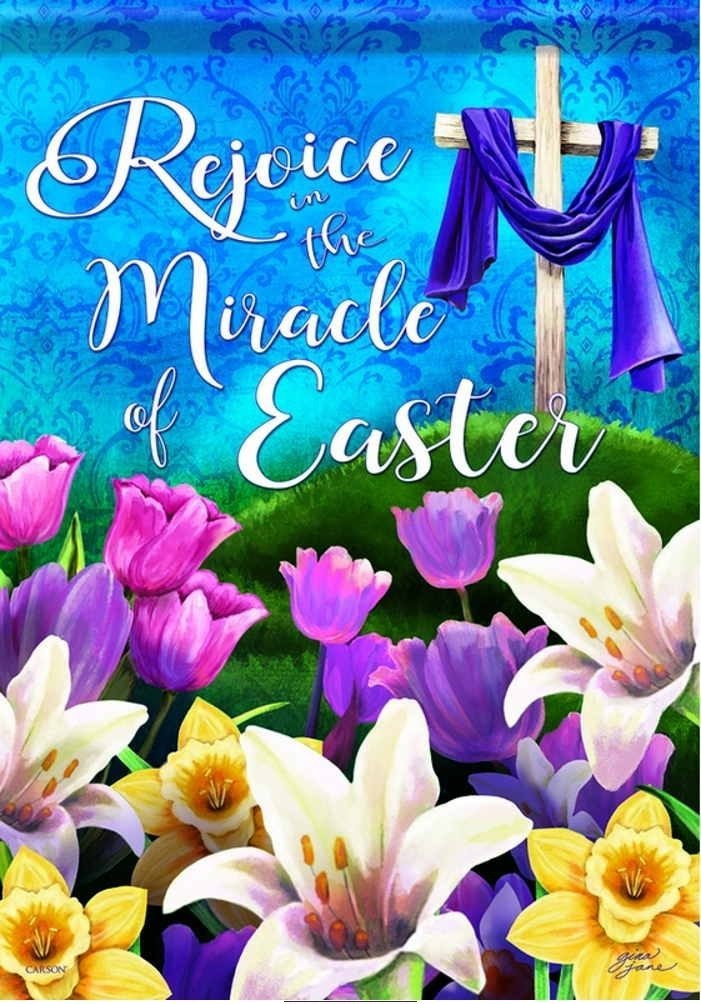 Miracle Of Easter Garden Flag More Garden Flags At