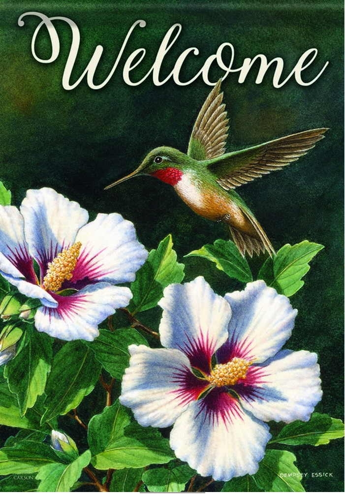 Ruby Throated Hummingbird House Flag & more garden flags at ...