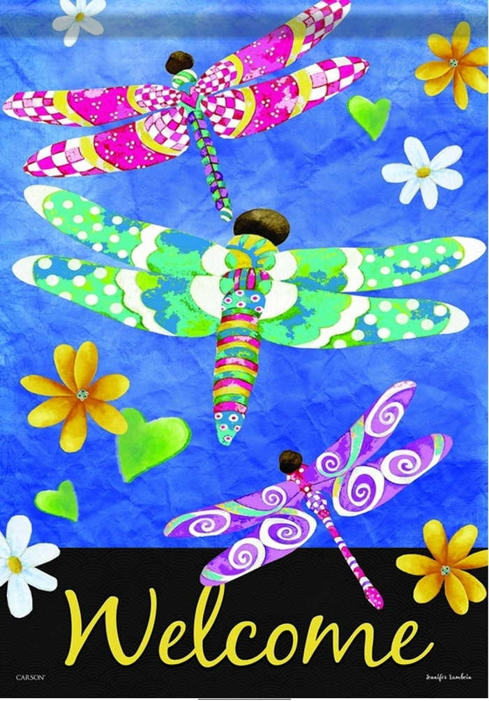 Dancing Dragonflies House Flag