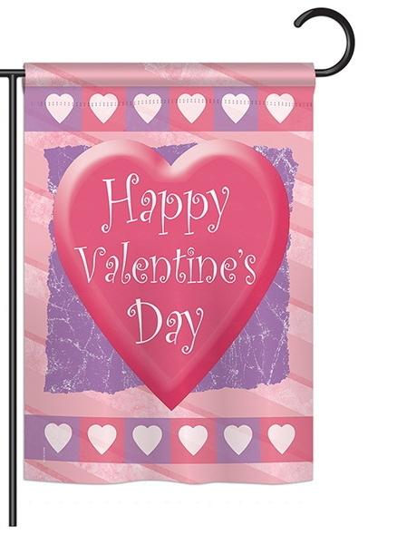 Valentine Heart Garden Flag