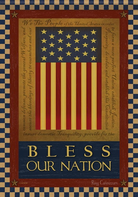 Bless Our Nation House Flag
