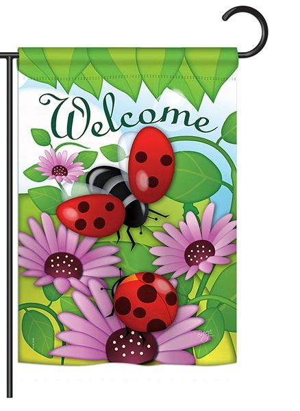 Welcome Ladybug Garden Flag & more garden flags at FlagsForYou.com