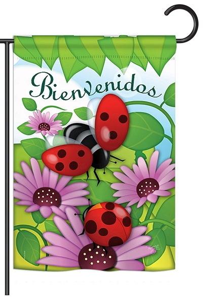 Bienvenidos Tortolitas Garden Flag & more garden flags at ...