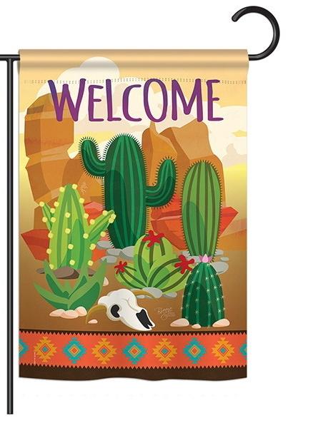 Cactus Garden Flag & more garden flags at FlagsForYou.com