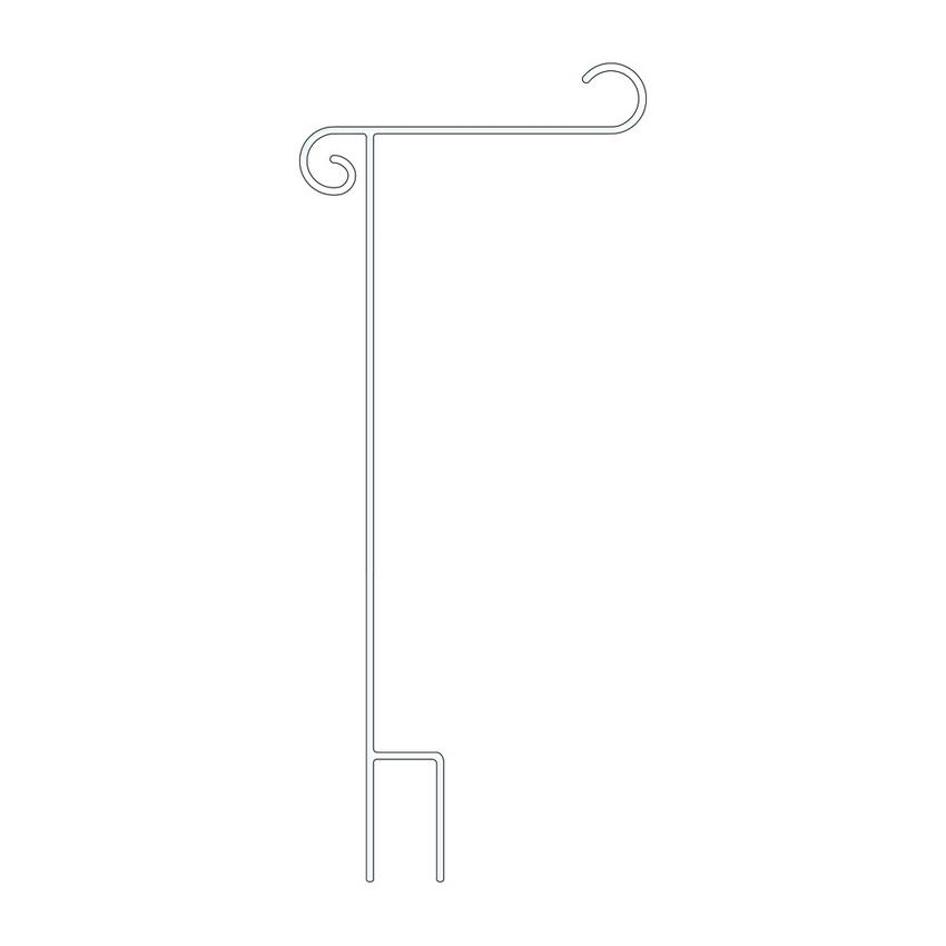 "Deluxe White Garden Flag Holder 17""x44"""