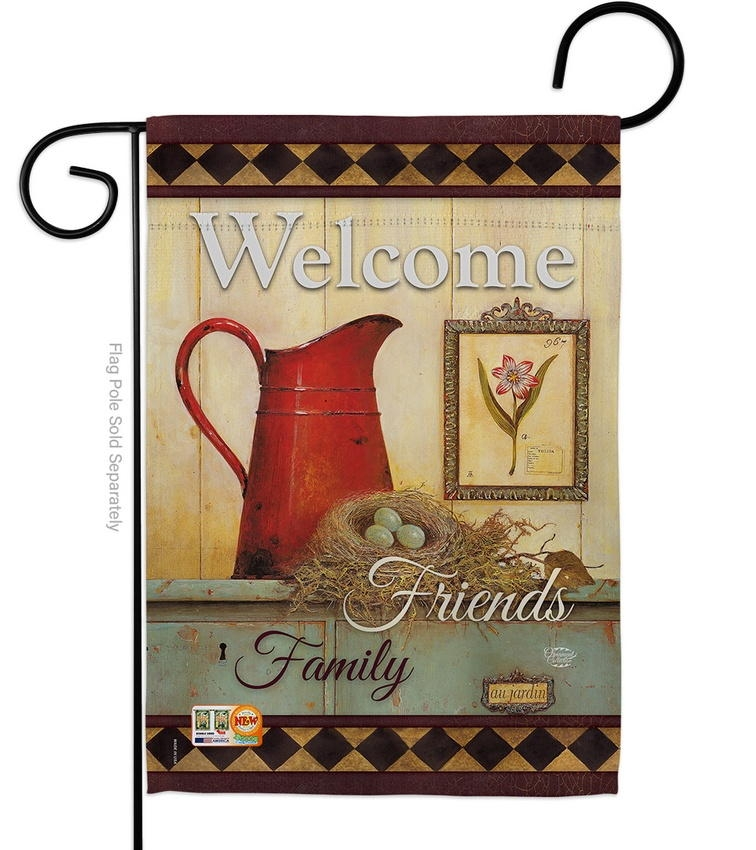 Welcome Country Style Garden Flag