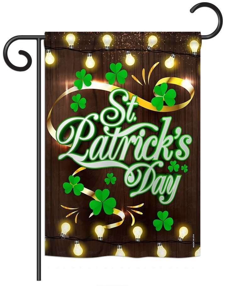 Lightful St. Patrick\'s Day Garden Flag