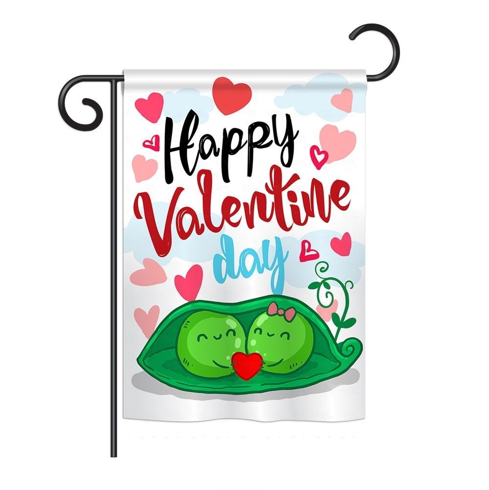 My Sweet Peas Valentine Garden Flag