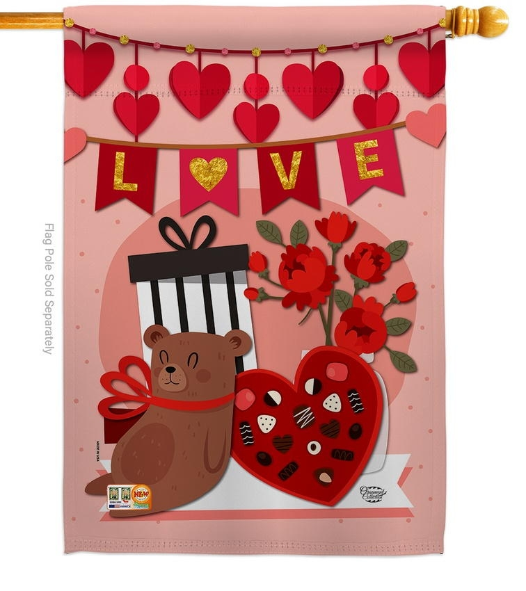 Valentine Sweet Moment House Flag