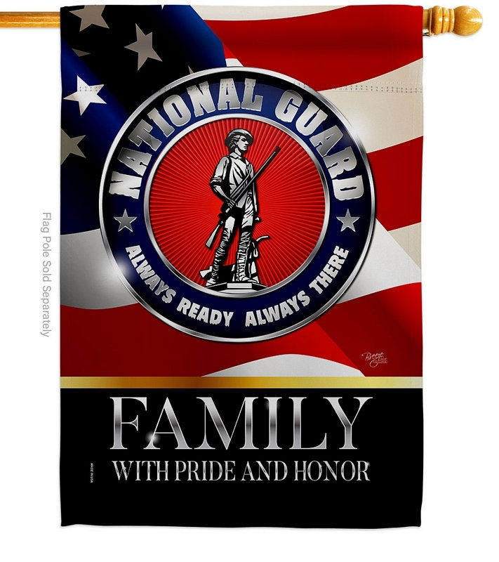 US National Guard Family Honor House Flag