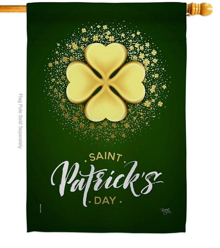 Gold Shamrock House Flag