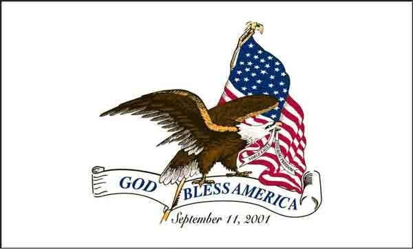 3\' x 5\' God Bless America US Made, High Wind Flag