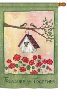 Treasure Life Together House Flag
