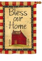 Bless Our Home House Flag