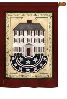 Patriotic White House House Flag