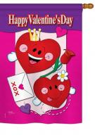 Happy Valentine\'s Day House Flag