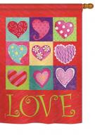 Love Hearts Collage House Flag