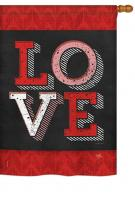 Red Love House Flag