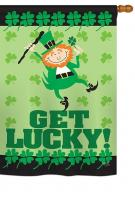 Get Lucky House Flag
