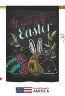 Colorful Easter Eggs House Flag