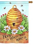 Bee Hive Home House Flag