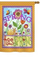 Bugs Spring Garden Flag