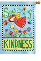 Sow Seeds of Kindness House Flag