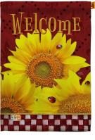 Golden Sunflowers Decorative House Flag